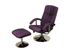Lexus TV Chair & Stool-Linen Purple