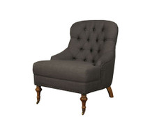 Chantal Bedroom Chair-Charcoal
