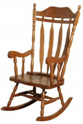 Jefferson Solid Wood Oak Rocker