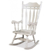 Jefferson Solid Wood White Rocker