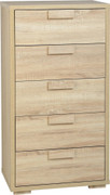 Cambourne 5 Drawer Chest- Sonoma Oak Effect Veneer