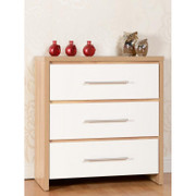 Seville 3 Drawer Chest-White