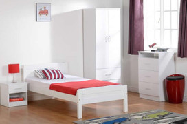 Amber 4'6'' Bed- White