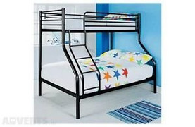 Andy Triple Bunk Bed- Black