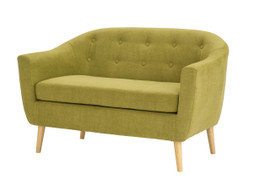 Fulham Chenille Fabric 2 Seater-Olive
