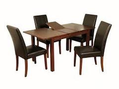 Hartford Acacia 4' extension Dining Set (brown)