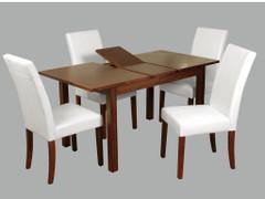 Hartford Acacia 4' extension Dining Set (White)