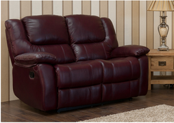 Harvey Full Leather 2 Seater Fixed-Black (Not Pictured)