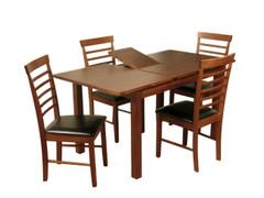 Hartford Acacia Dining Set With Hanover Dark chairs