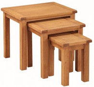 Hartford Country Oak Nest of Tables