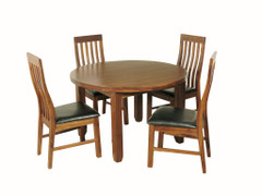Roscrea Round Dining Set with Slatback Chairs