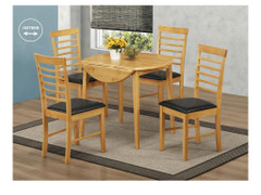 Hanover Light Round Drop Leaf Dining Set With 4 Chairs
