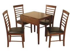 Hanover Dark Square Drop Leaf Dining With 4 Chairs