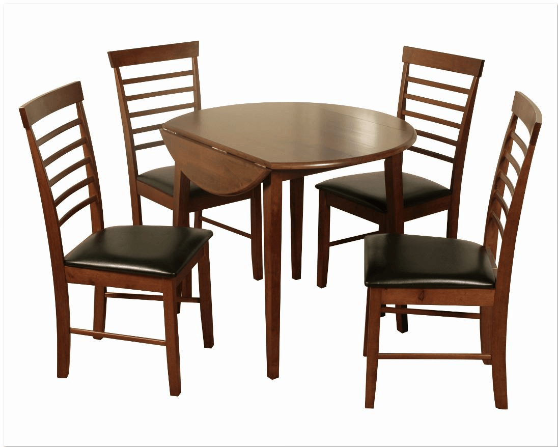 Picture of: Hanover Dark Round Drop Leaf Dining Table Ideal Furniture