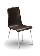 Mandy Dining Chair-Leather-Brown