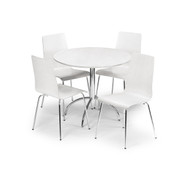 Mandy Dining Set-White
