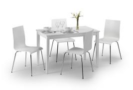 Taku Dining Set With 4 Mandy Chairs