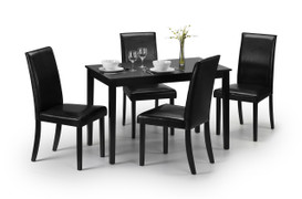 Hudson Dining Table Set-Black
