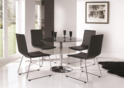 Orbit Dining Table - Black 100cm
