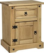 Corona 1 Drawer 1 Door Bedside Chest