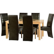 Wexford 59'' Dining Set with G5 Espresso Brown PU Chairs