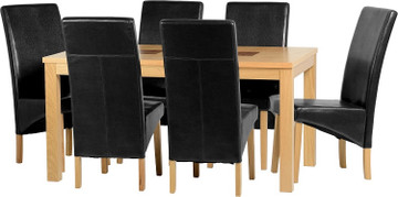 Wexford 59'' Dining Set with G1 Espresso Brown PU Chairs