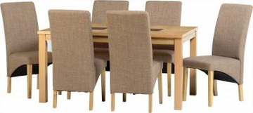 Wexford 59'' Dining Set with G1 Sand Fabric Chairs