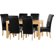 Wexford 59'' Dining Set with Black PU G10 Chairs