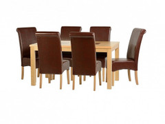 Wexford 59'' Dining Set with Mid Brown PU G10 Chairs