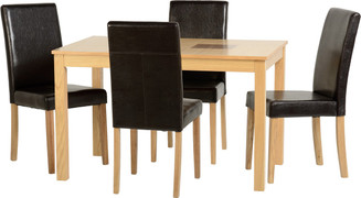 Wexford 47'' Dining Set with Espresso Brown PU G3 Chairs
