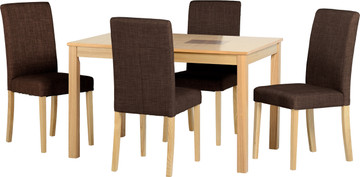 Wexford 47'' Dining Set with Dark Fabric G3 Chairs