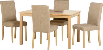 Wexford 47'' Dining Set with Sand Fabric G3 Chairs