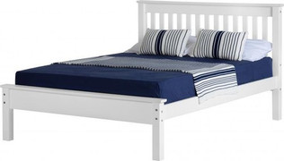 Monaco 4'6'' Bed Low Foot End-White