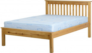 Monaco 4'6'' Bed Low Foot End-Antique Pine