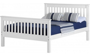 Monaco 4'6'' Bed High Foot End-White