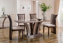 Amalfi Dining Table-Pearl Grey 160 cm