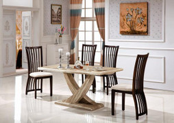 Olympia Dining Set-160 cm With 6 Elgin Chairs