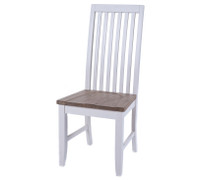 MEDINA DINING CHAIR  Medina Range This solid acacia collection is simply beautiful and well proportioned. With a washed oak top that brings and element of style and versatility. Truly modern  in colour yet slightly classic in design.  A distinguished and striking selection of furniture that will harmonise any home.  Available in dining and occasional.