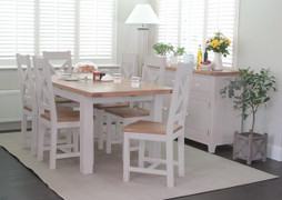 Clemence Dining Set With 6 Dining Chairs-(150/190 cm)
