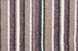 The Noble Stripe Collection Carpet- Lavender 55