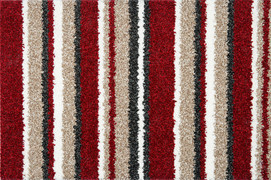 The Noble Stripe Collection Carpet- Red Alert 15