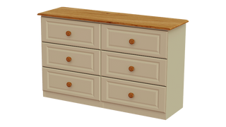 Annagh Ivory 3+3 Deep Drawer Long Chest