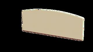 Annagh Ivory 4'6 Slab Headboard