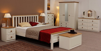 Annagh Ivory 4' Bed