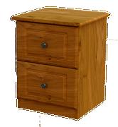 Pippy Oak 2 Deep Drawer Locker