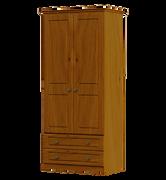 Pippy Oak 2 Door 2 Drawer Wardrobe