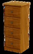 Pippy Oak 4 Deep Drawer Locker
