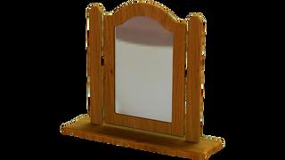 Pippy Oak Single Square Mirror