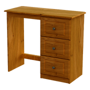 Pippy Oak 3 Drawer Dressing Table