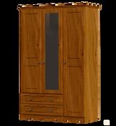 Pippy Oak 3 Door 2 Drawer 2 Mirror Wardrobe